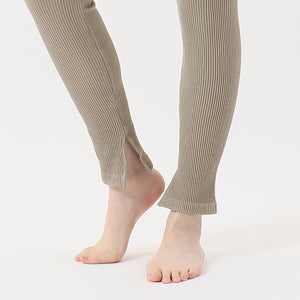 1P Hanes Undies Rib Leggings | レディース | 1枚 | HW9-S501 | アース