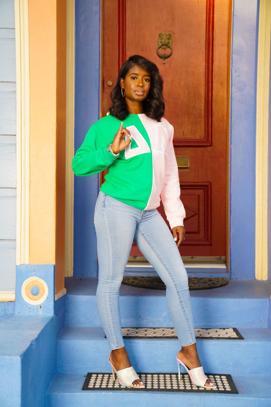 AKA Custom Chapter Colorblock Sweatshirt