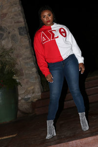 ΔΣΘ Color Block Sweatshirt