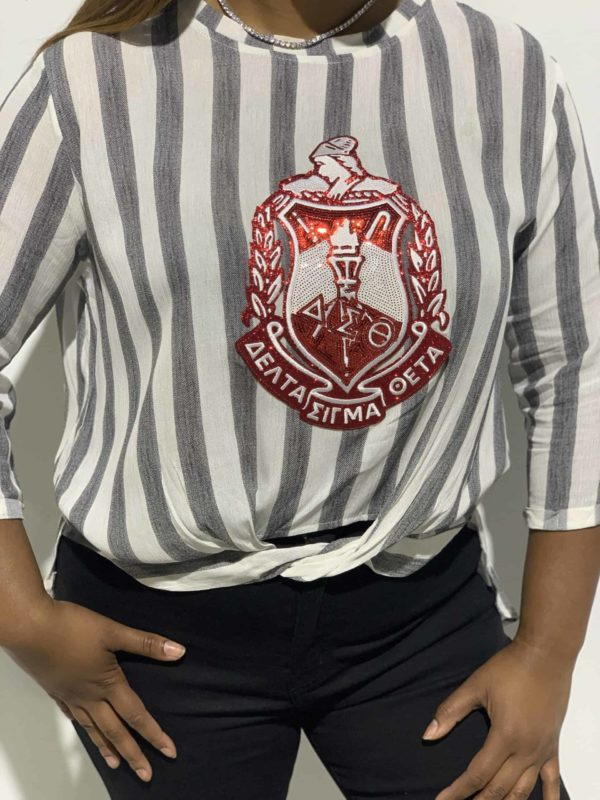 ΔΣΘ Stripped Shield Shirt