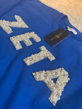 Load image into Gallery viewer, ΖΦΒ Pearl Embellished Sweatshirt