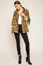 Load image into Gallery viewer, Camouflage Fringe Jacket- Pink Chevrons