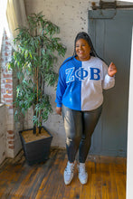 Load image into Gallery viewer, ΖΦΒ Color Block Sweatshirt
