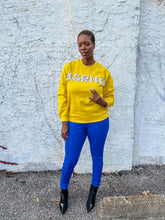 Load image into Gallery viewer, SGRHO Pearl Embellished Sweatshirt