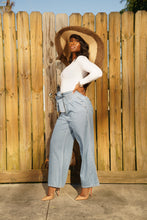 Load image into Gallery viewer, Waist Tie Wide Leg Pants