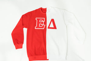 ΔΣΘ Custom Chapter Colorblock Sweatshirt