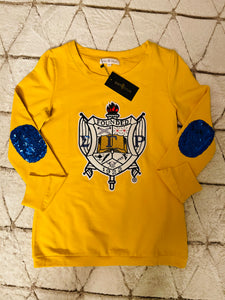 ΣΓΡ Sequin Shield Lightweight Sweatshirt