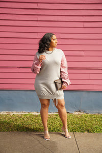 Mauvelous Weekend Sweatshirt Dress