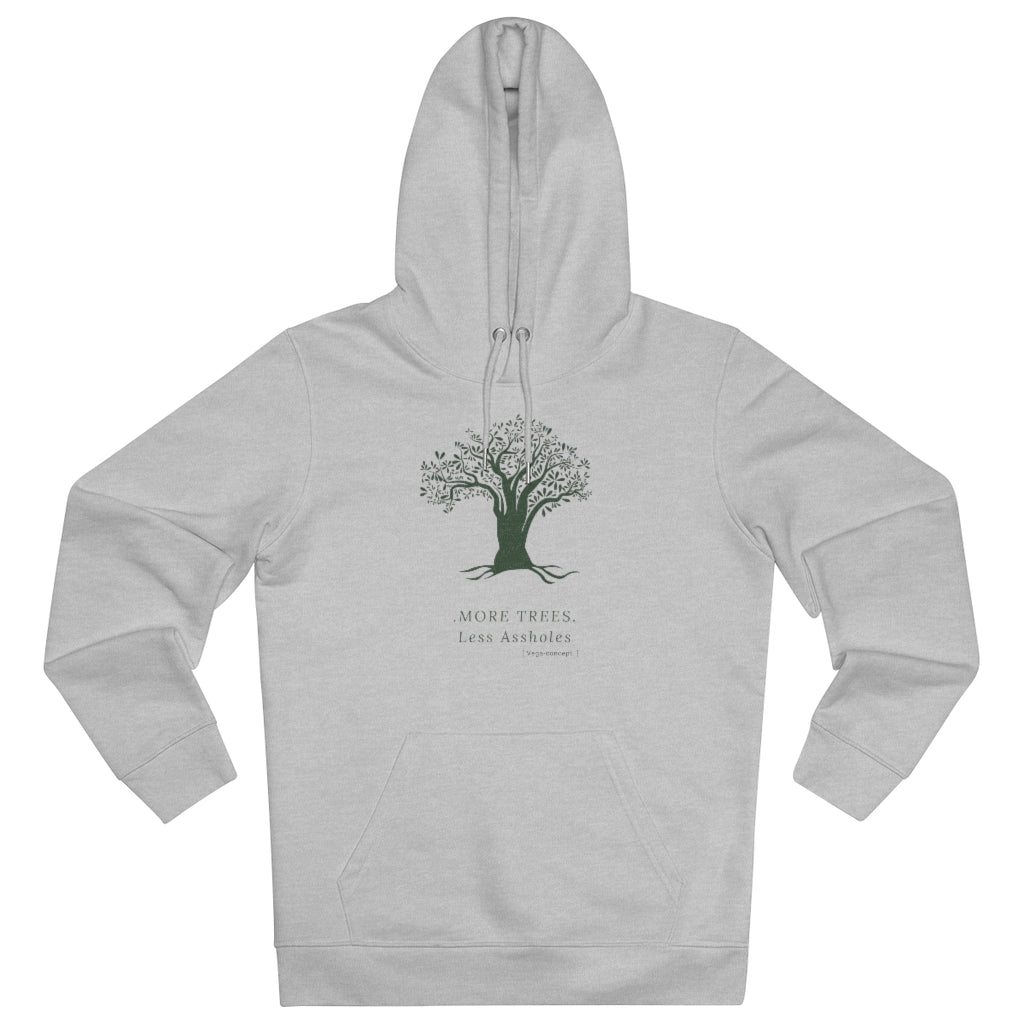Organic Tree Hoodie Heather Grey - unisex