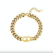 Afbeelding in Gallery-weergave laden, Armband chain Stainless Steel Lunathelabel  0288710  Gold