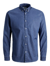 Afbeelding in Gallery-weergave laden, Blouse LM Premium Stretch Denim Shirt 12185342 Medium blue denim
