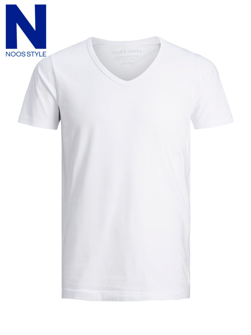 JJ Basic Vneck tee 12059219 Optical White