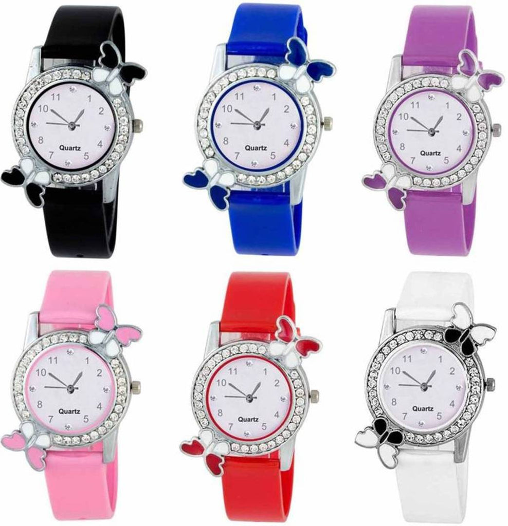 Multicoloured Combo of 6 Analog For Womens