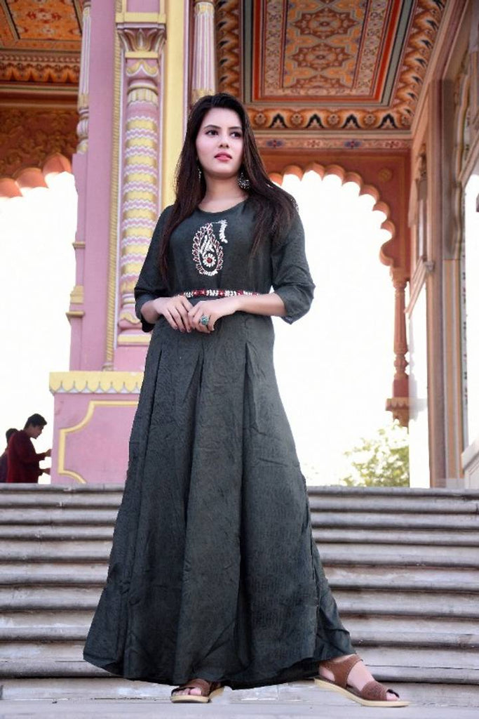 womens designer bollywood diva stylish long kurta