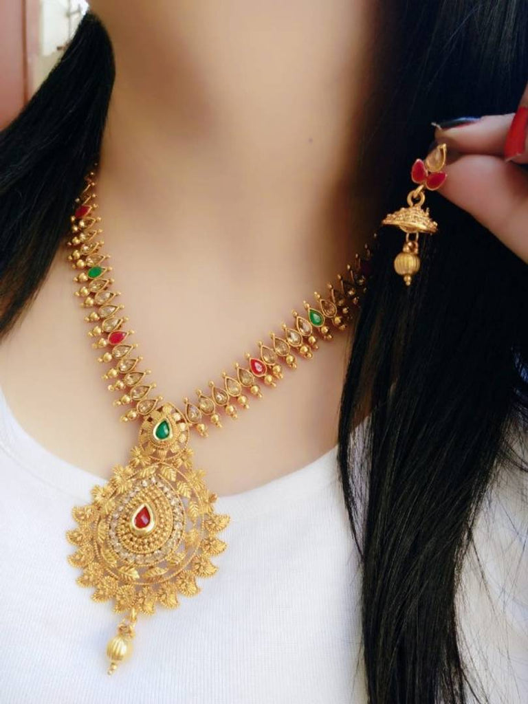 Gold Plated Antic Long Set