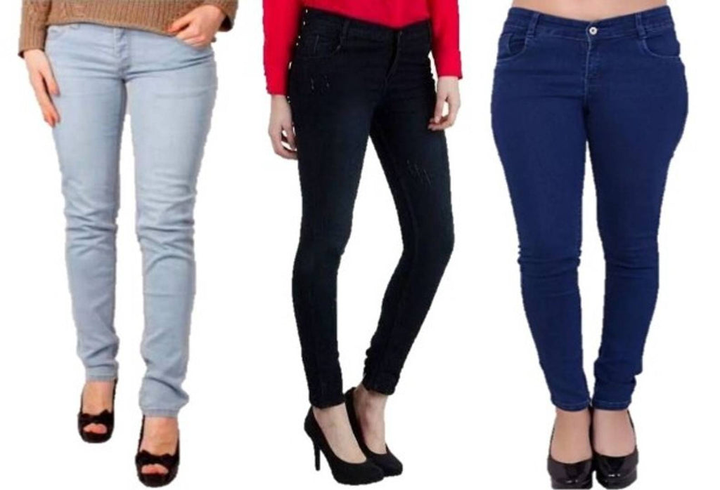 Stylish Girl's Jeans Pack Of 3 - Zoopershop.com