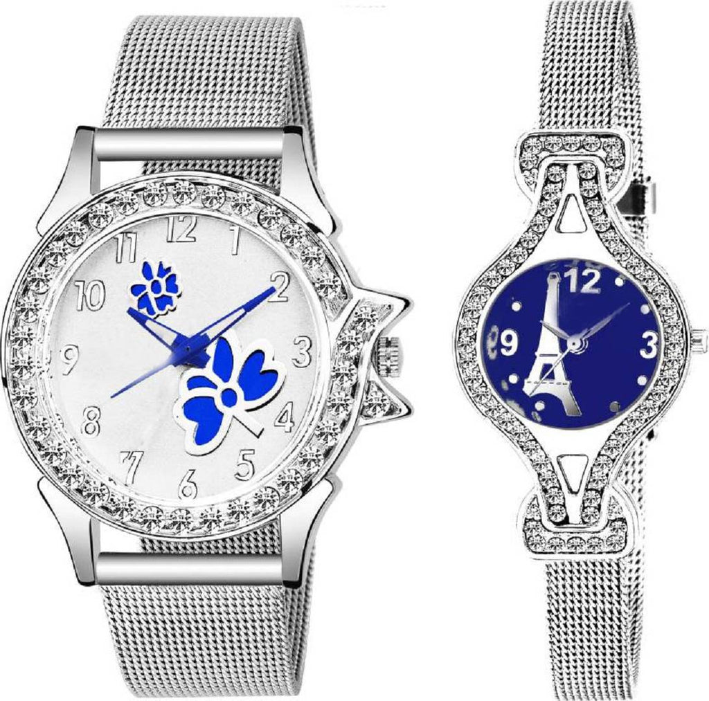 Combo Of 2 Analog Stainless Steel Watch