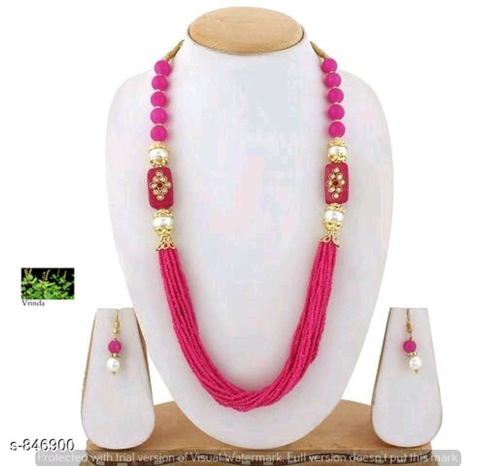 Pink Beads Antique Jewellery set