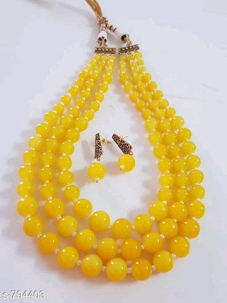 Yellow Pearl Jewllery Sets