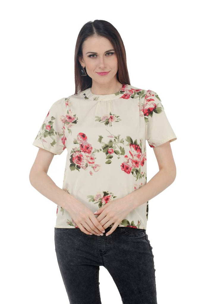 Off White Floral Top - Zoopershop.com