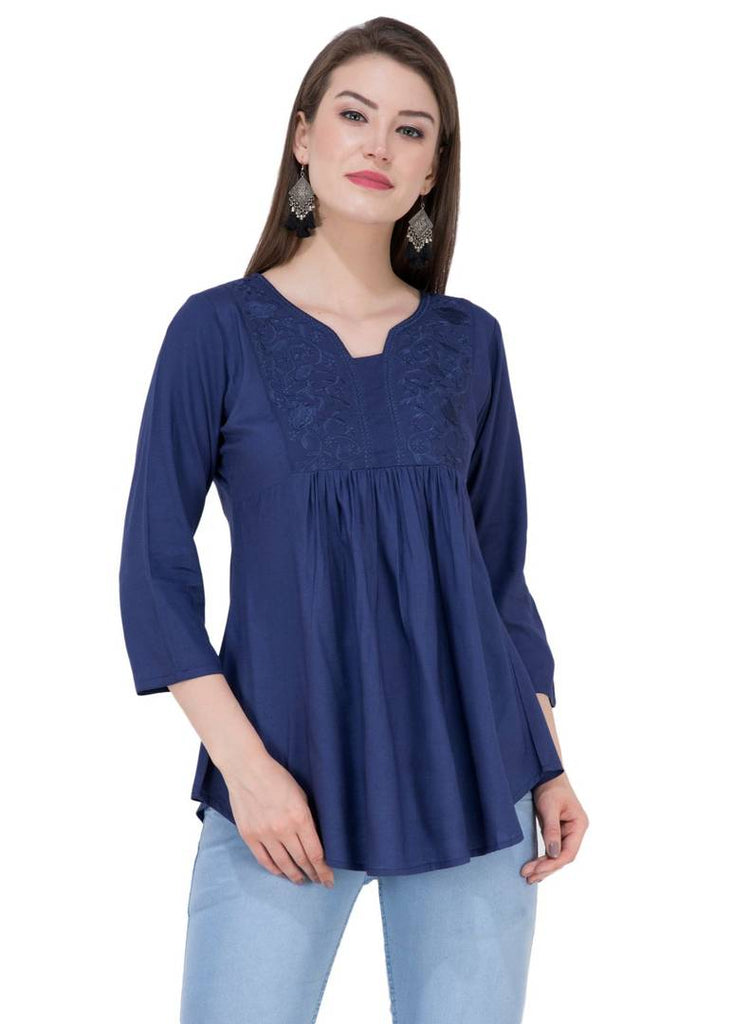 Women's Rayon Embroidered Top - Zoopershop.com