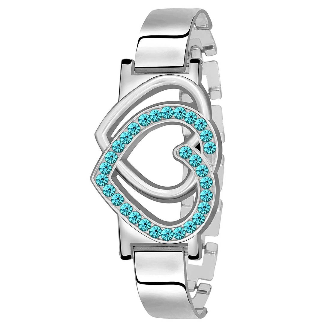 Combo Of Metal Bracelet and Metal Watch For Women