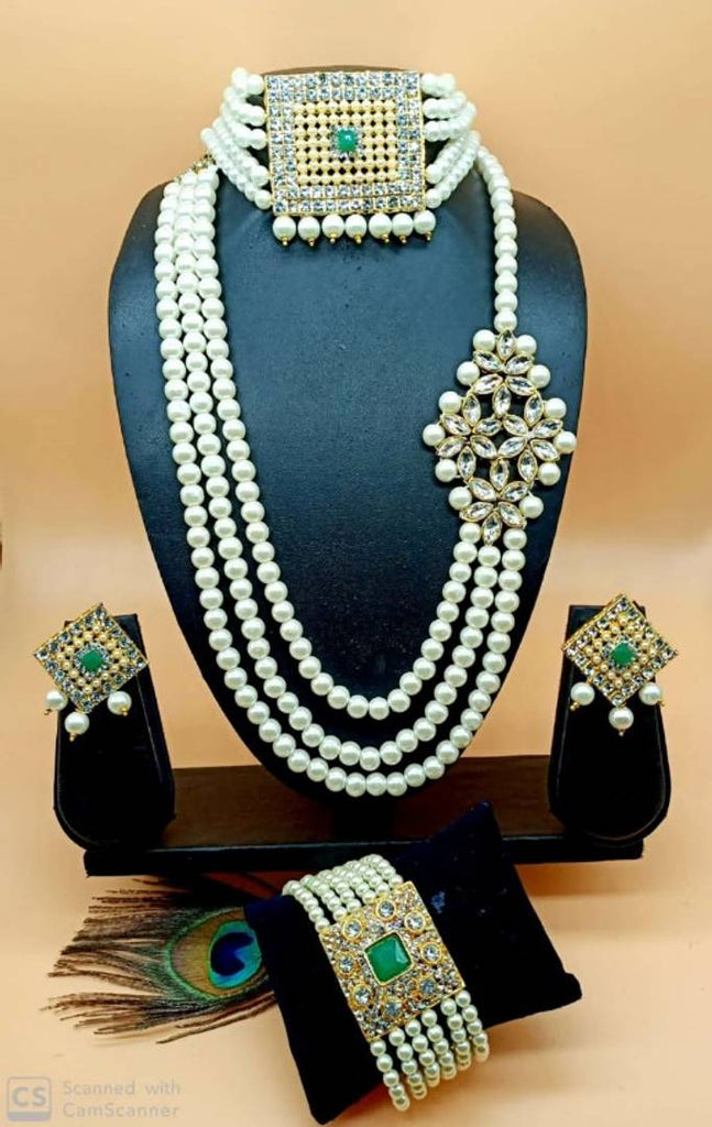 Pearl Combo Jewellery Set For Women