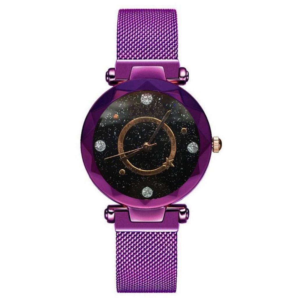New Purple Magnetic Strap Watch For Women