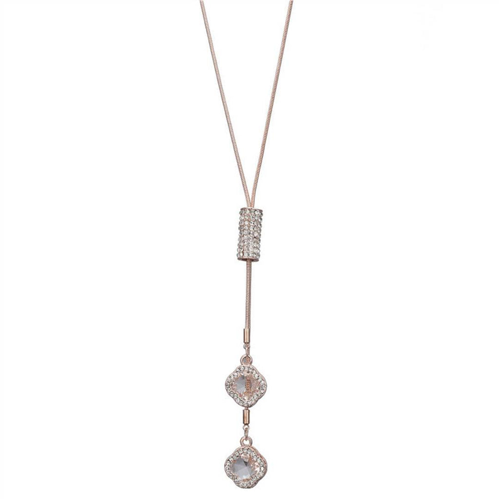 Trendy Charm Rhodium Plated Necklace for women
