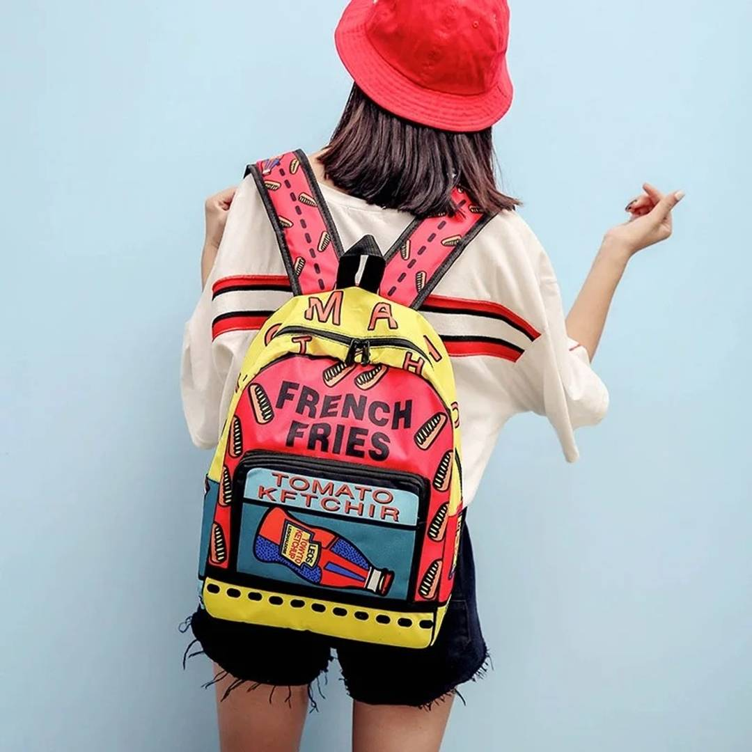 Funky Canvas Backpack For Women