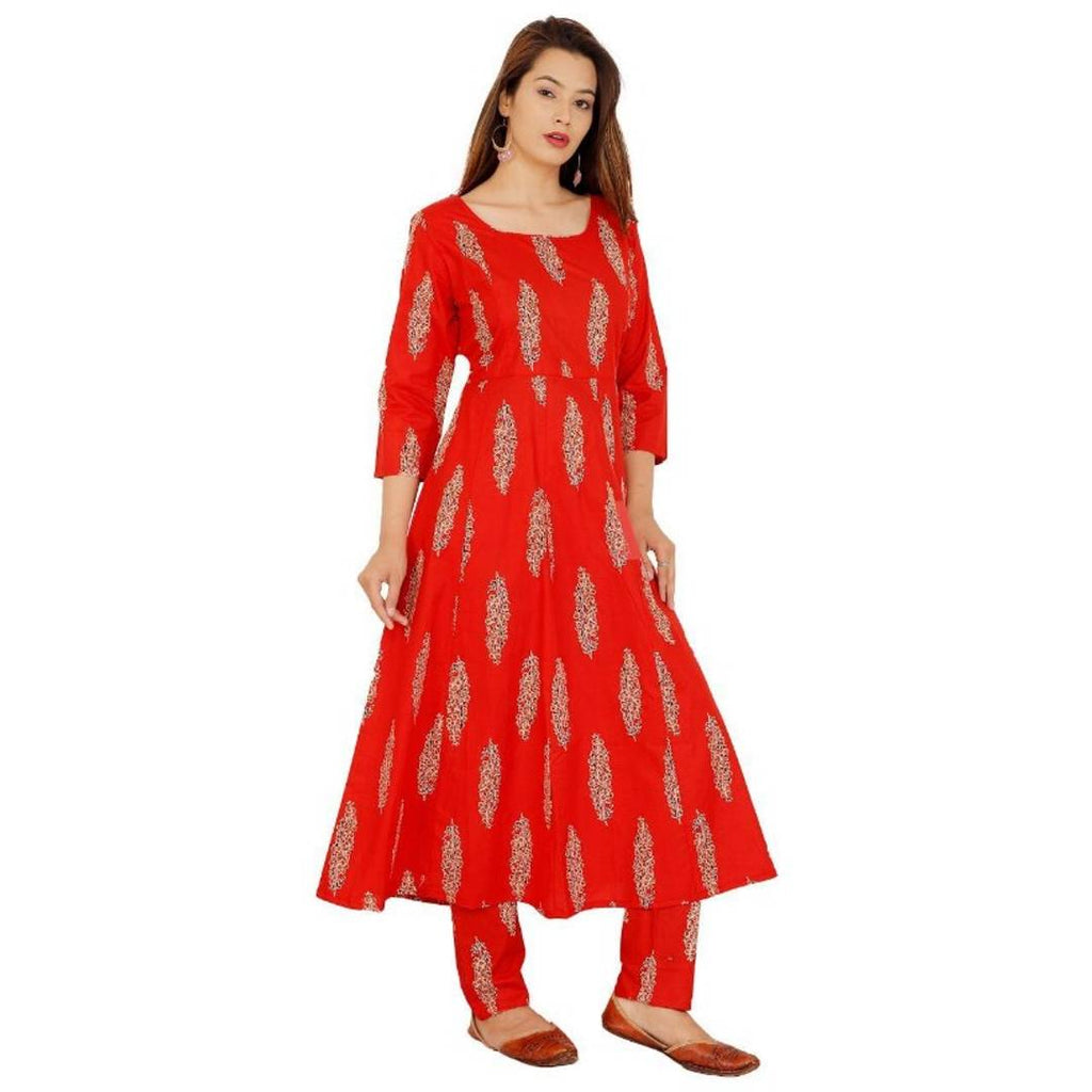 Cambric Cotton Kurta with Rayon Palazzo Set for Women's
