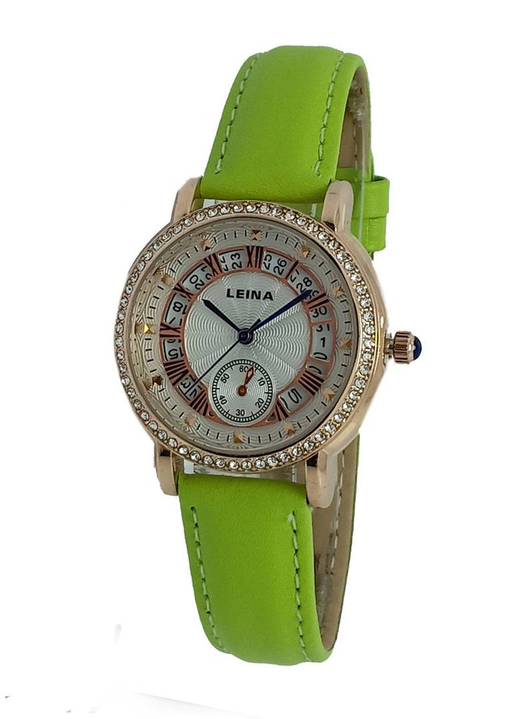 Parrot Analog Watch With Synthetic Leather Strap And Brass Dial
