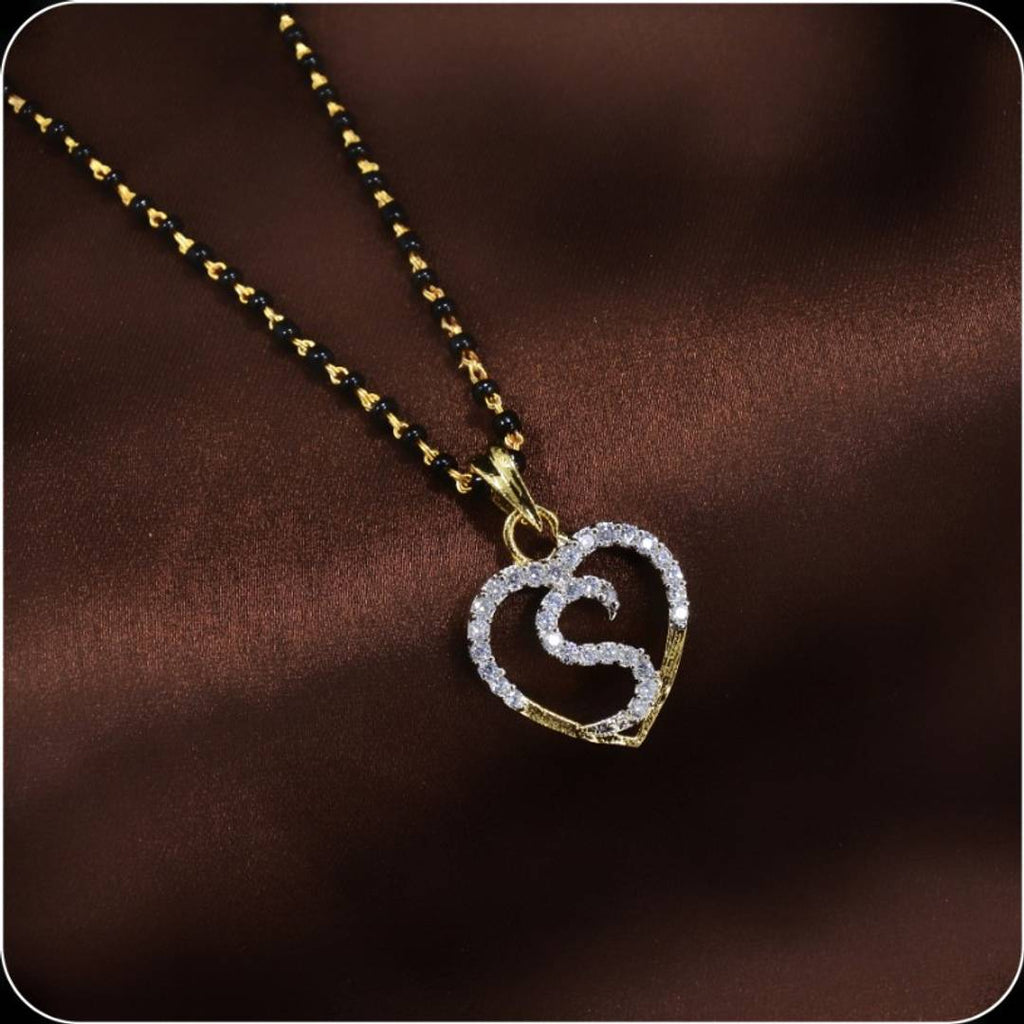 new trendy stylish intail letter S mangalsutra for womens