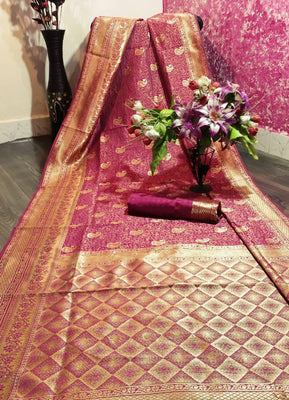 Banarasi Art Silk Woven Design Saree with Blouse Piece