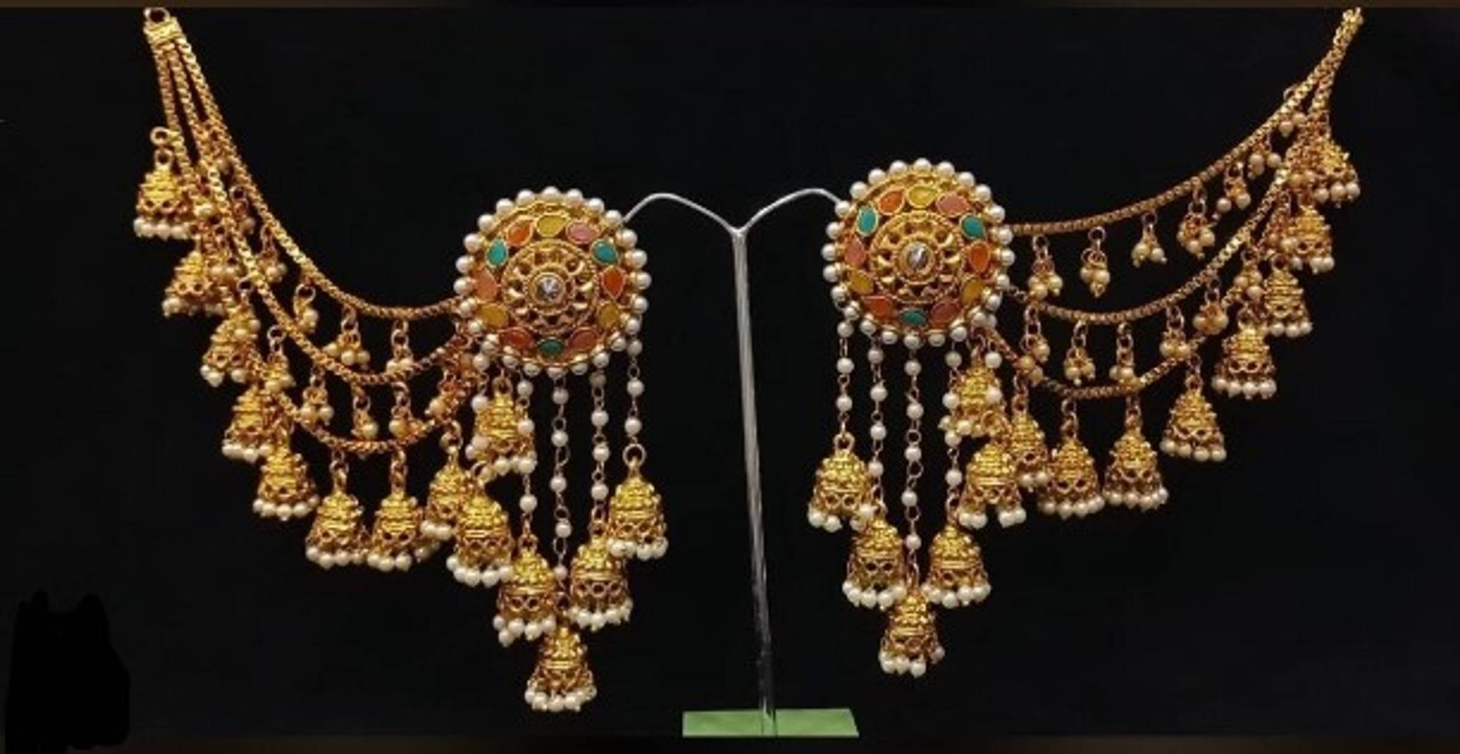bahubali earrings with earr chains