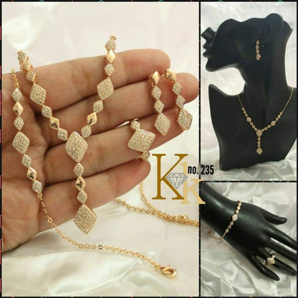 alloy gold plated combo set for women and girl