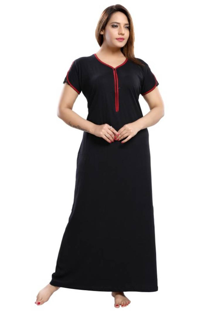 Women's Designer Hoisery Cotton Nighty