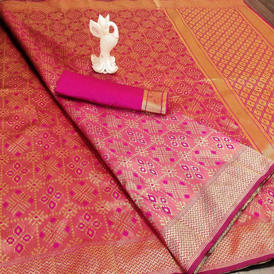 Banarasi Art Banarasi Silk Woven Design Saree with Blouse Piece