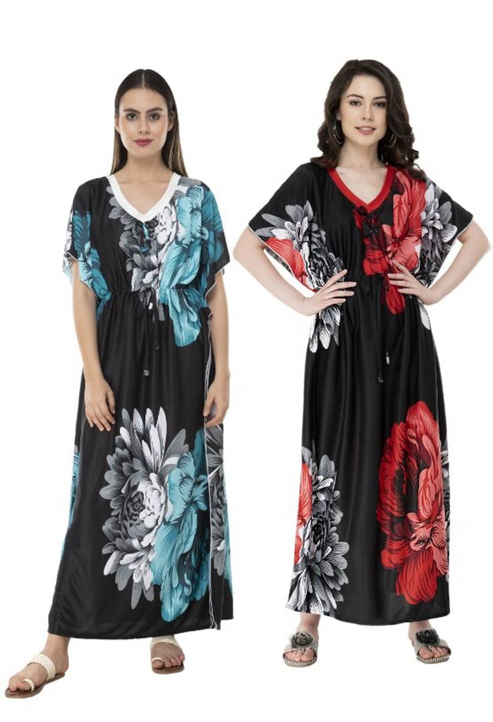 Printed Kaftan Night Gowns Combo 2