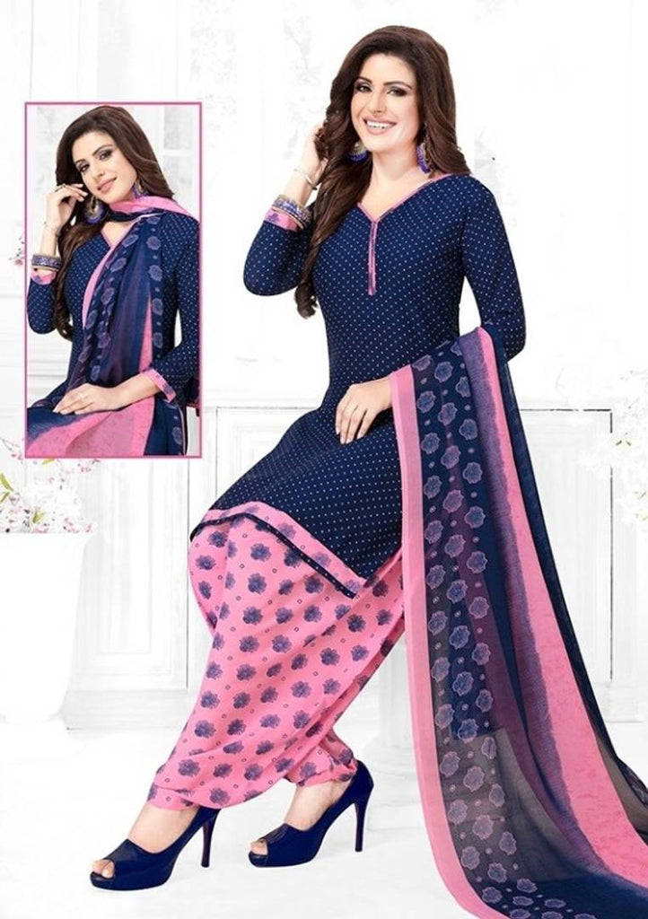 Elegant Women's Soft Synthetic Dress Material With Dupatta