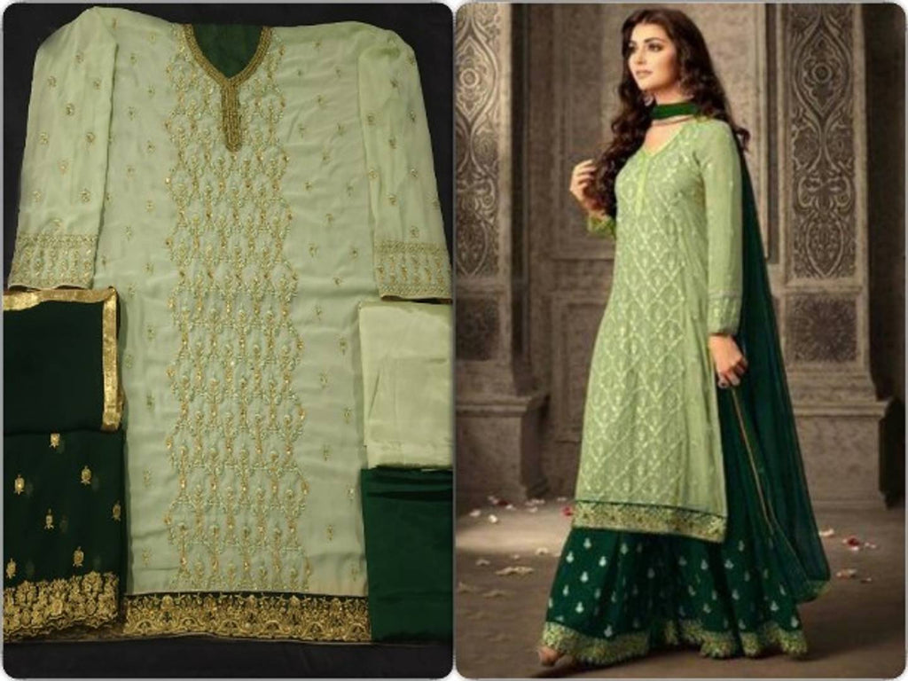 New Trendy Georgette Embroidered Un-stitched Dress Material