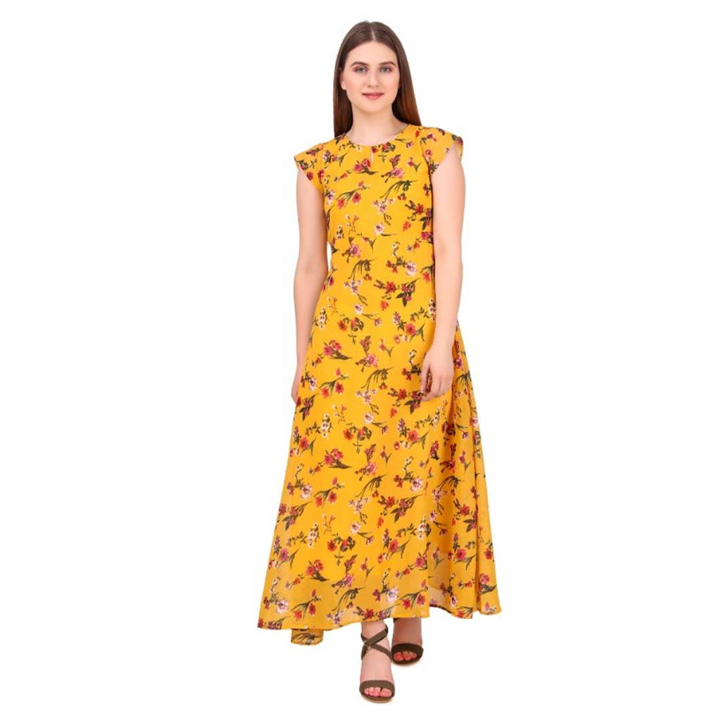 long georgette dress - Zoopershop.com