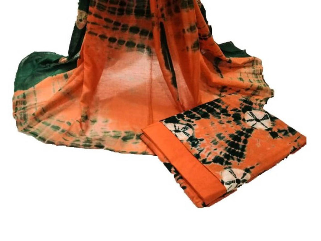 Trendy Cotton Dress Material With Dupatta