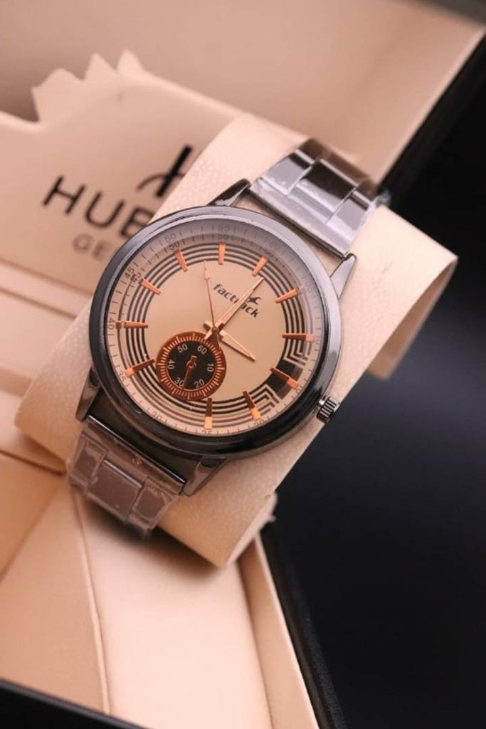 New And Attractive Look Metal Analog Watch For Men