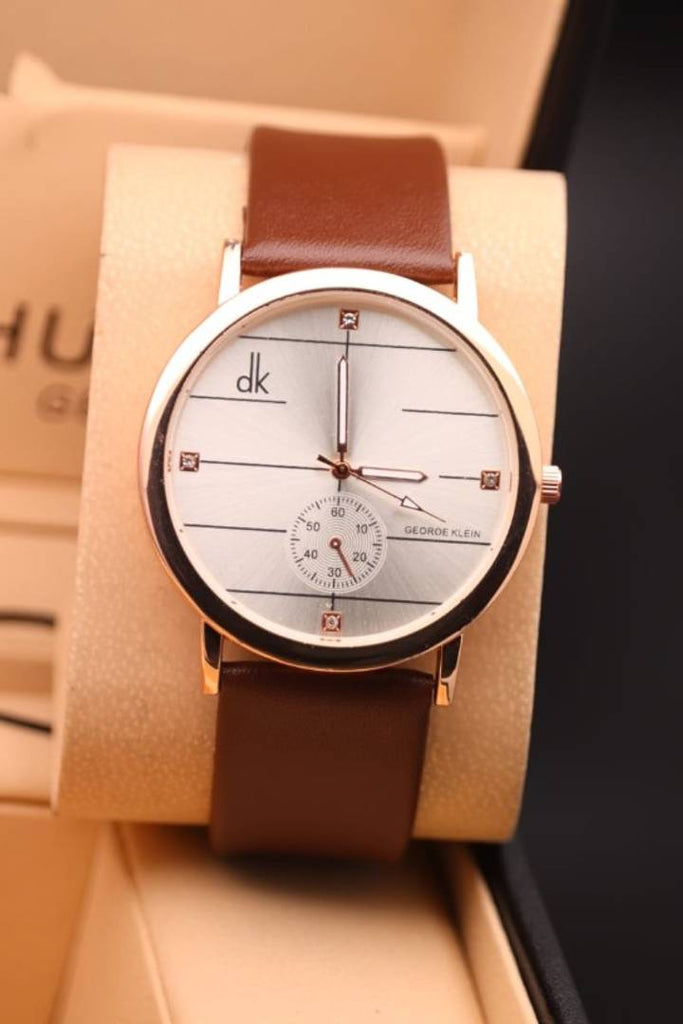 Synthetic Strap Watch For Men