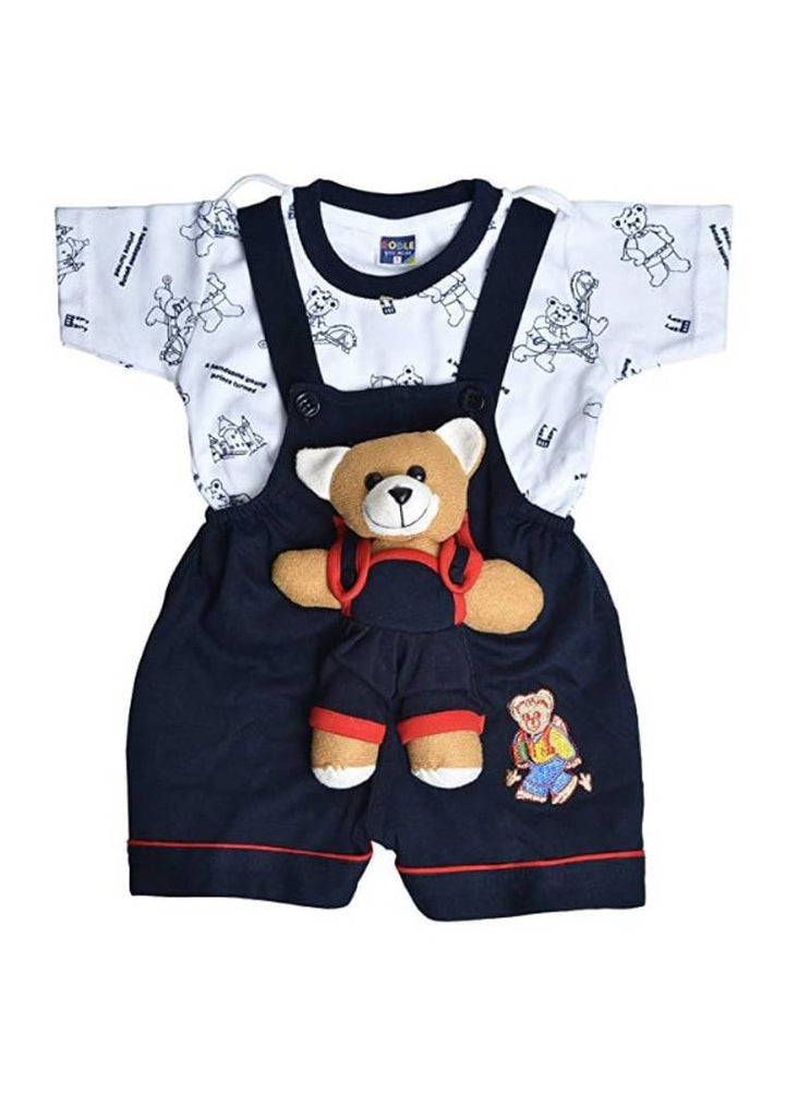 Elegant Cotton Hosiery Kids Unisex Dungaree - Zoopershop.com