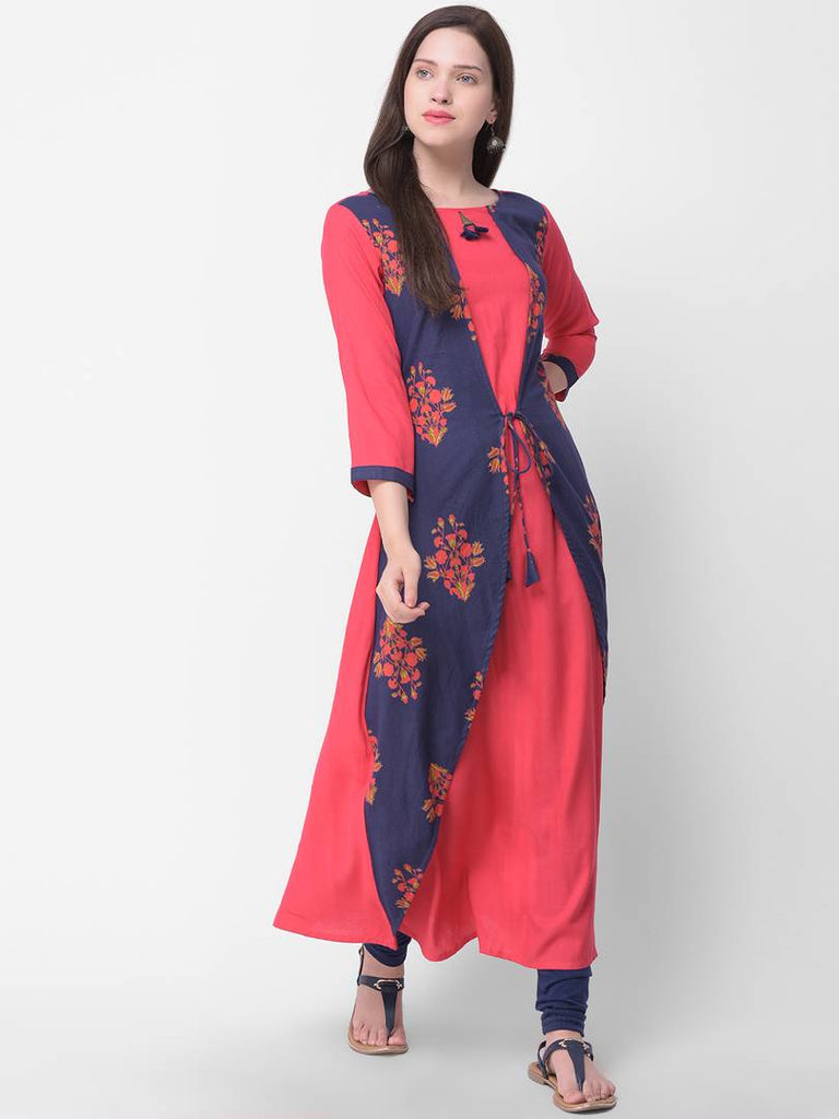 Stylish Multicolored Printed Rayon Kurta