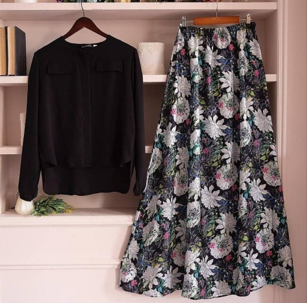 New Latest Women's Rayon (14 kg) Top with Long Printed Skirt - Zoopershop.com