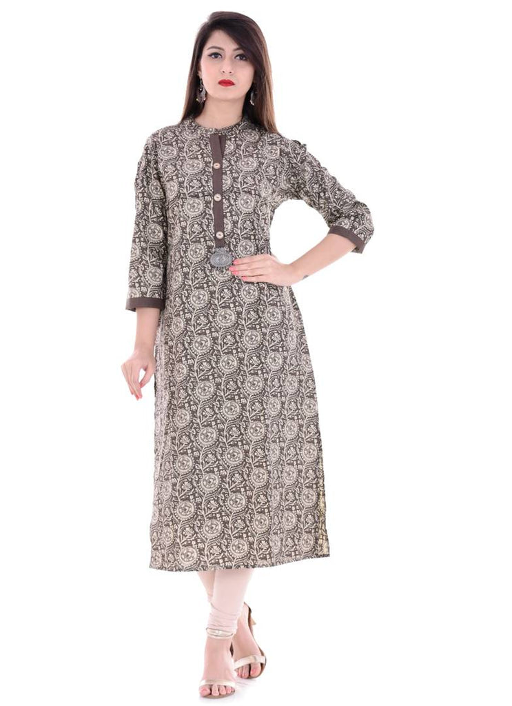 Stylish Printed Straight Kurta