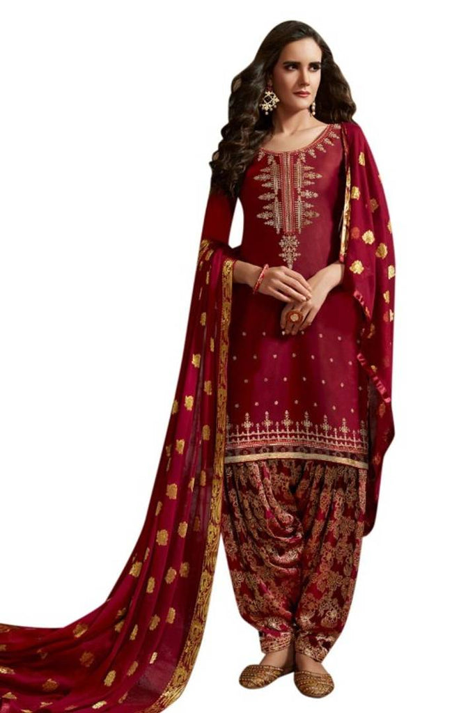Women's Designer Cotton Semi Stitched Patiyala Salwar Suit